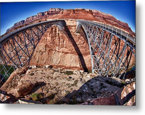 Twin Bridges Metal Print by Juan Carlos Diaz Parra