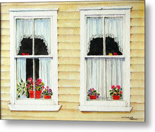 Twin Peeks Metal Print