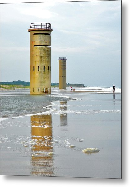 Twin Towers At Whiskey Beach Metal Print