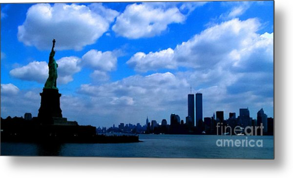 Twin Towers In Heaven's Sky - Remembering 9/11 Metal Print