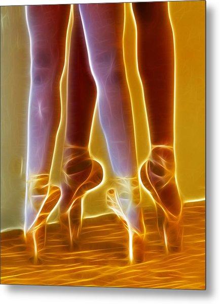 Ballet On Point Seond Position Metal Print