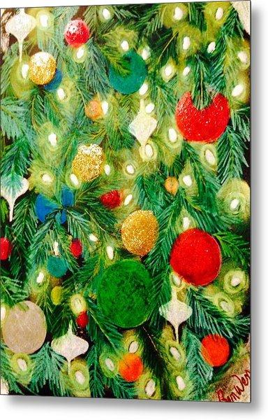 Twinkling Christmas Tree Metal Print