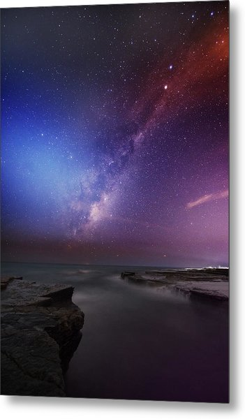 Twins Color Milky Way Metal Print by Alex Teng
