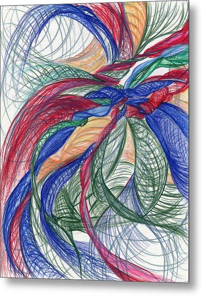 Twirls And Cloth Metal Print