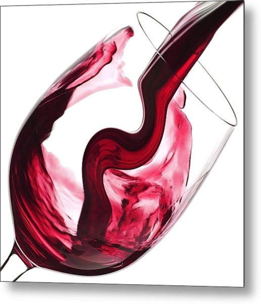 Twisted Flavour Red Wine Metal Print
