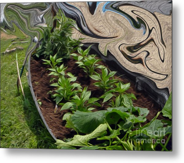 Twisted Garden Metal Print
