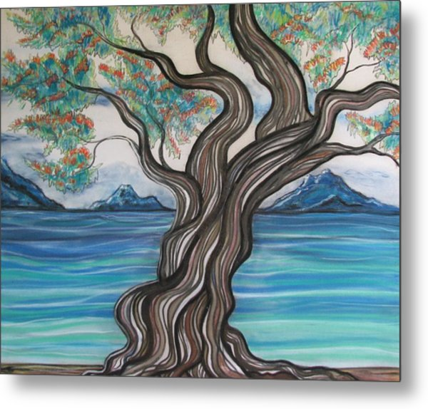 Twisted Tree Metal Print