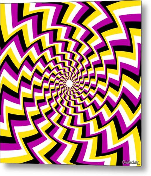 Twisting Spiral Metal Print