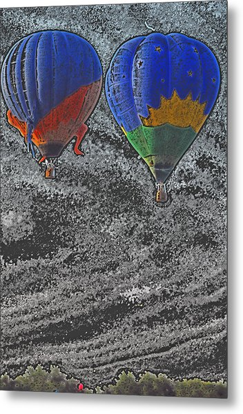 Two Balloons In Colored Pencil  Metal Print