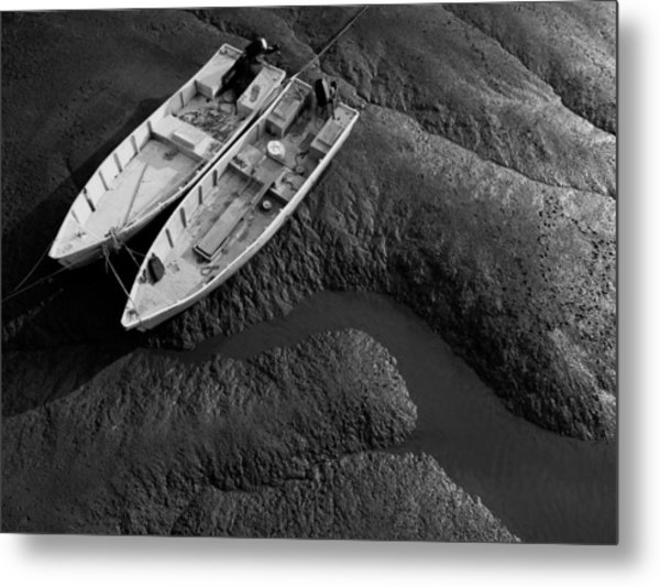Two Boats At Low Tide Metal Print