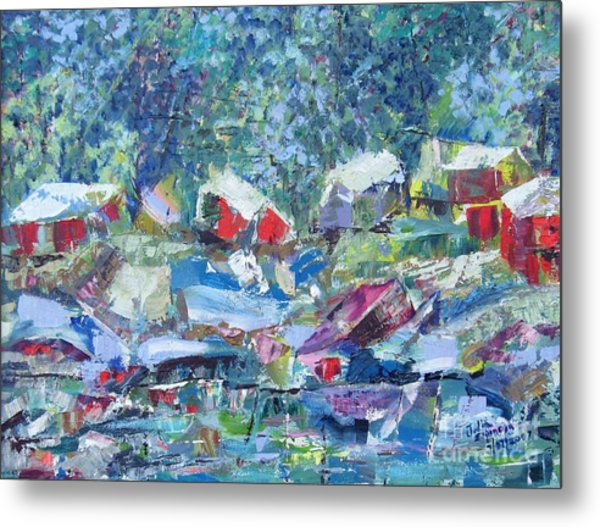 Two Canoes - Sold Metal Print by Judith Espinoza