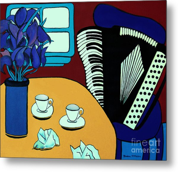 Two Cups One Accordian Metal Print