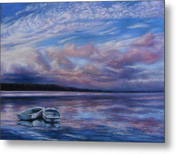 Two Dorys Waterscape  Metal Print