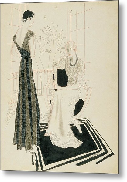 Two Fashionable Women Metal Print by R.S. Grafstrom