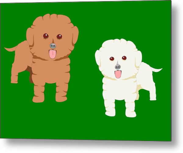 Two Fluffy Pet Dogs Metal Print