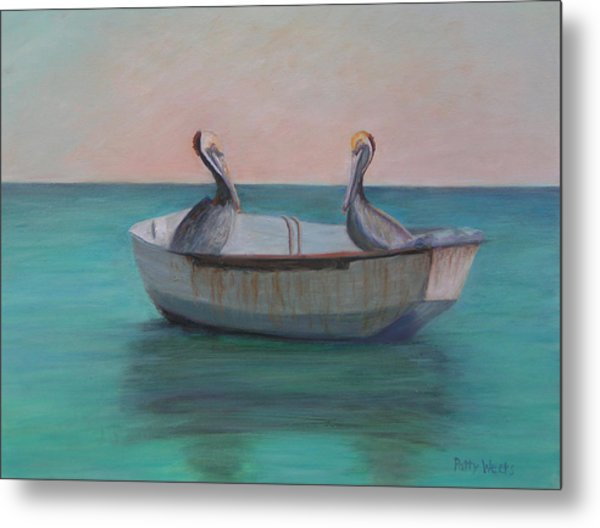 Two Friends In A Dinghy Metal Print