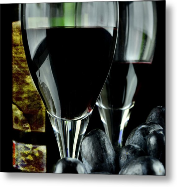 Two Glasses With Red Wine Metal Print