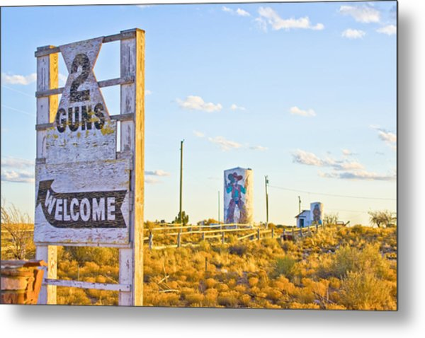 Two Guns At Sunset Metal Print