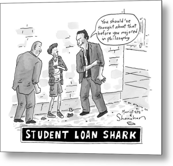Two Henchman -- Student Loan Sharks -- Approach Metal Print