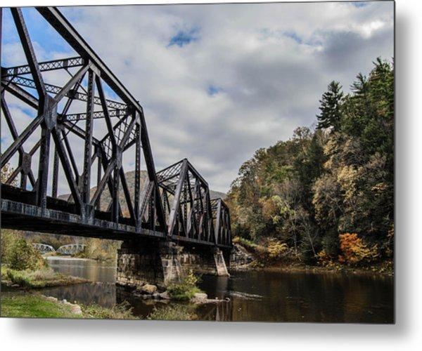 Two Iron Bridges Metal Print by Anthony Thomas