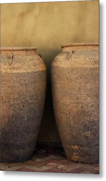 Two Large Garden Urns Metal Print