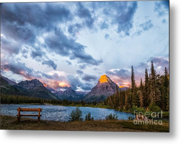 Two Medicine Lake Sunrise Metal Print