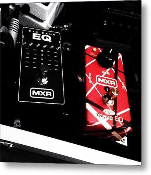 Two Of My Fav #mxr #pedals #guitars Metal Print
