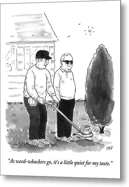 Two Old Men In A Yard Metal Print