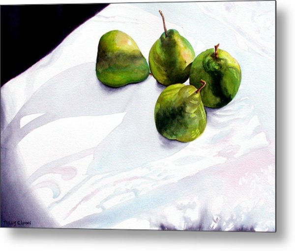Two Pair Of Pears Metal Print