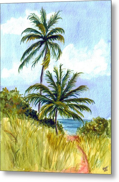 Two Palms Metal Print