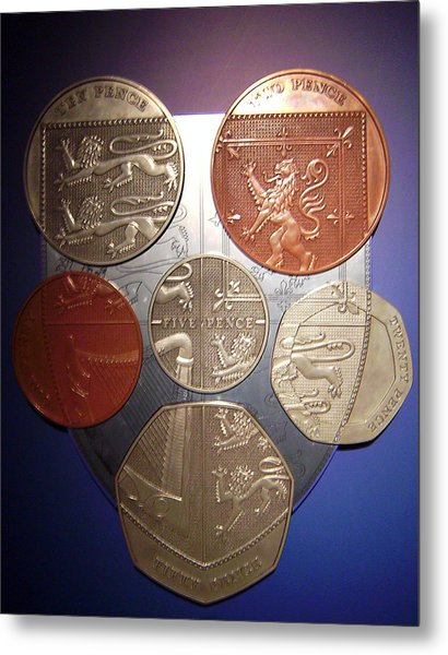 Two Pence Five Pence Ten Pence Metal Print
