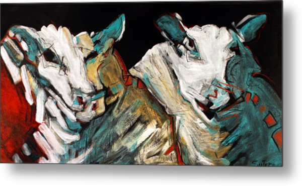 Two Rams Metal Print