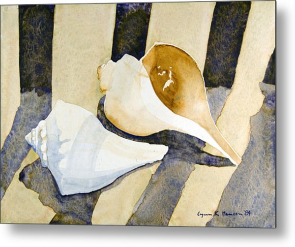 Two Shells Metal Print