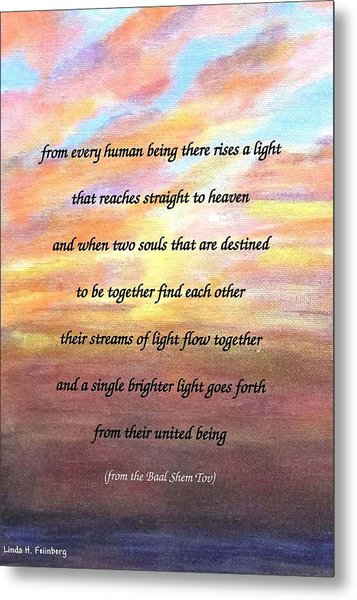 Two Souls Destined To Be Together Metal Print