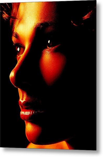 Two Tone Portrait Metal Print