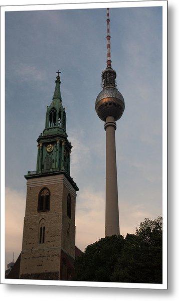 Two Towers In Berlin Metal Print
