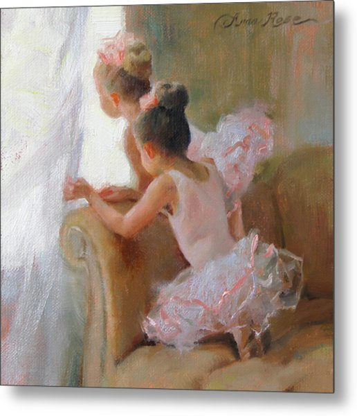 Two Tutus Metal Print by Anna Rose Bain