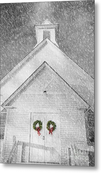 Two Wreaths Metal Print