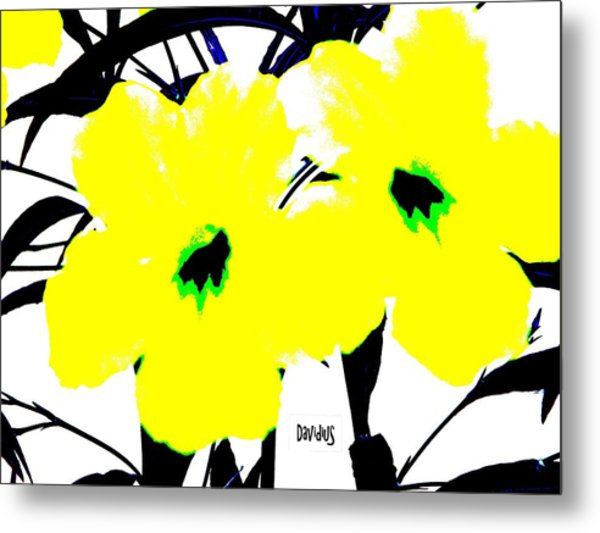 Metal Print featuring the photograph Two Yellow Jacks W Logo by David Clark