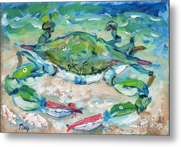 Tybee Blue Crab Mini Series Metal Print