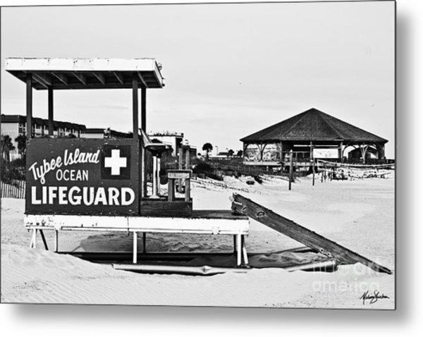 Tybee Island Lifeguard Stand Metal Print