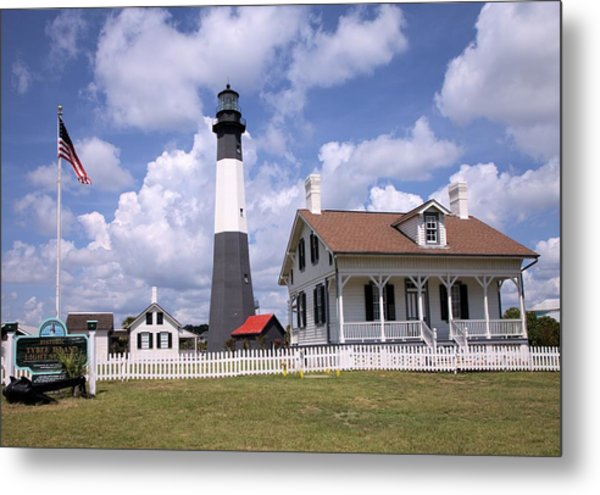 Tybee Island Light Metal Print