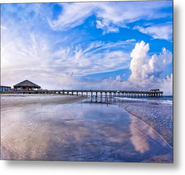 Tybee Island Pier On A Beautiful Afternoon Metal Print