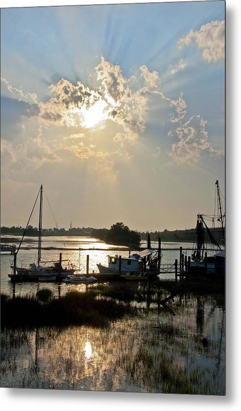 Tybee Sunset Metal Print