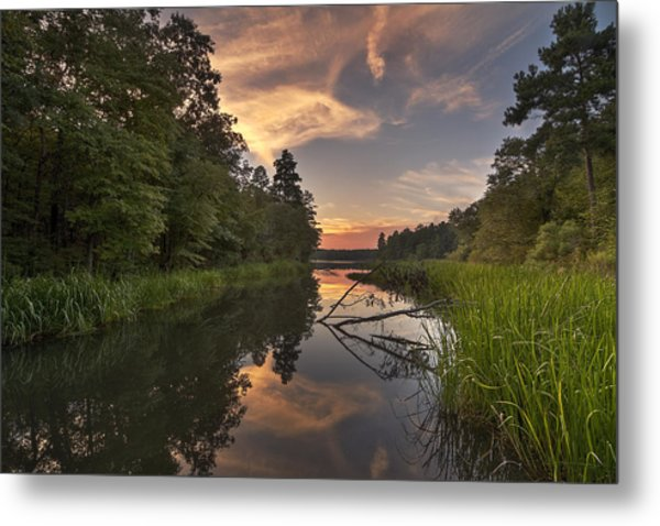 Tyler State Park Lake At Sunset Metal Print