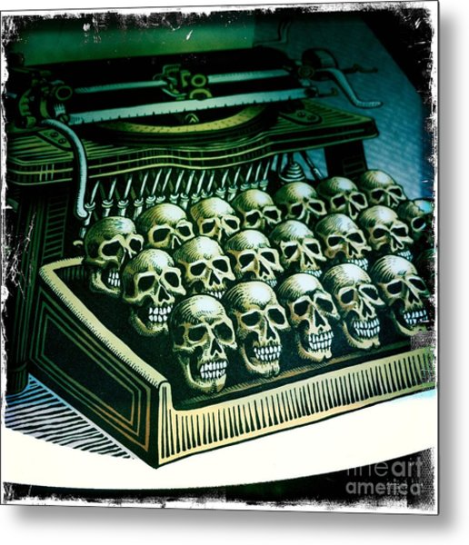 Typewriter With A Difference Metal Print