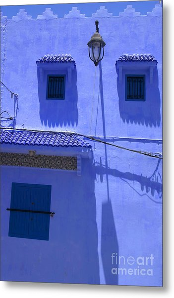 Typical Blue Facade In The Medina Of Asilah On Northwest Tip Of Atlantic Coast Of Morocco Metal Print by PIXELS  XPOSED Ralph A Ledergerber Photography