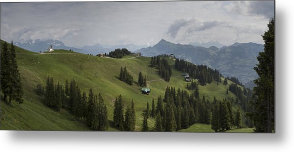 Tyrolean Panorama Metal Print by Nigel Jones