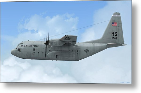 U. S. Air Force C-130 Hercules Metal Print