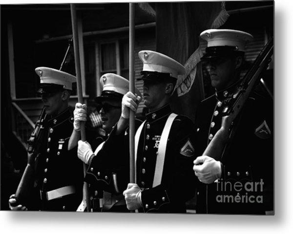 U. S. Marines - Monochrome Metal Print